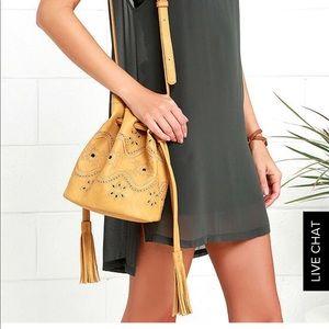 Lulus's Tag Along Embroidered Bucket Bag
